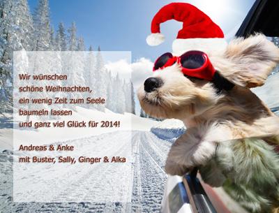 Jagdliche Weihnachtsgrüße.Thornfield